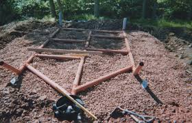 A network of pipes draining from a septic tank